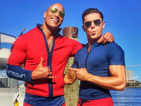 "Cue the Slow-Motion Running -- These ""Baywatch"" Movie Set Photos Have Us Very Excited!"