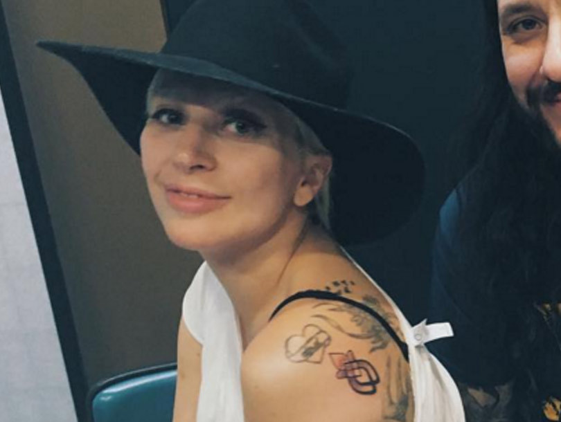 Lady Gaga Gets Matching Tattoos With Sexual Assault Survivors from Her Oscars…
