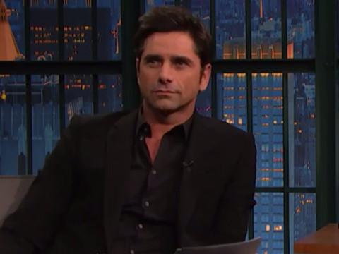 "John Stamos Helps Seth Meyers Read Negative Reviews of ""Fuller House"" -- See The Funny…"