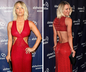 "Hello Body! Kaley Cuoco Looks Red Hot at ""A Night at Sardi's"" Benefit"