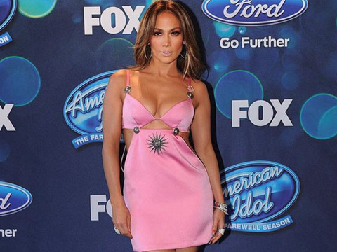 Even Jennifer Lopez Can't Pull Off This Pink Cutout Dress -- WTF Was She Thinking?!