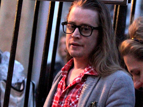 Macaulay Culkin Looks Nearly Unrecognizable on the Set of His New TV Show