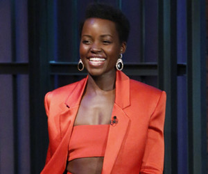 We're Obsessed with Lupita Nyong'o's Orange Balmain Getup -- Like the Look?