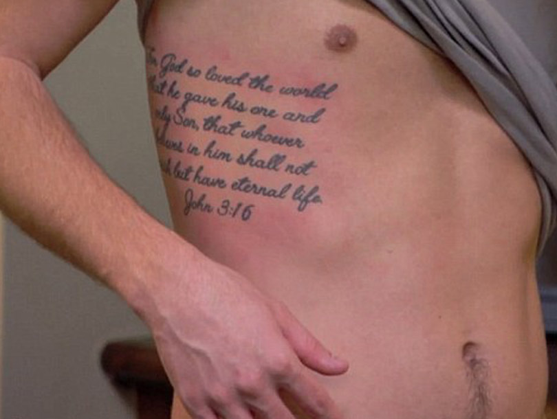 After all the backlash, Chase agreed to remove his new ink. While the ...