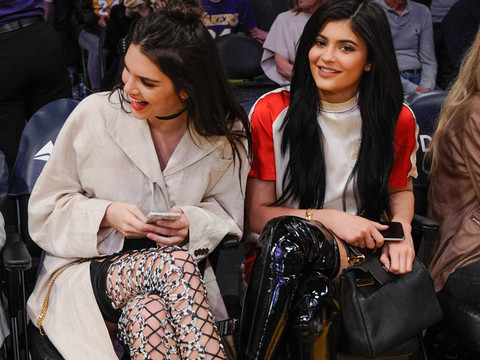 Kendall and Kylie Jenner Sport Crazy Thigh-High Boots at Lakers Game -- See This Week's…