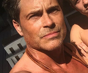 Rob Lowe Celebrates 52nd Birthday by Going Shirtless with Look-Alike…
