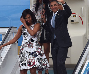 Malia and Sasha Obama Upstage Their Parents as They Arrive in Cuba -- They're…