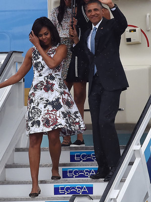 Malia and Sasha Obama Upstage Their Parents as They Arrive in Cuba -- They're So Grown Up!