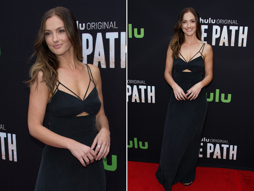 "Minka Kelly Steals The Spotlight On Red Carpet For Premiere of Hulu's ""The Path""!"