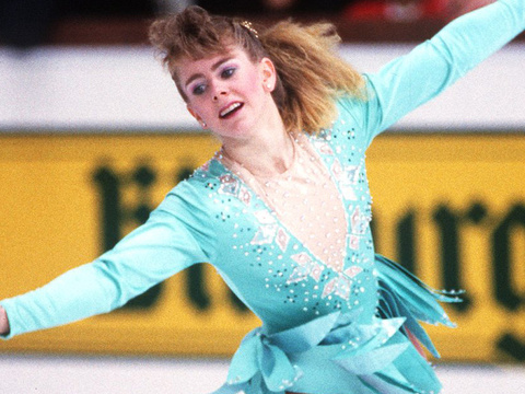 Tonya Harding RESURFACES In Viral Video -- Jokes About Nancy Kerrigan Incident!