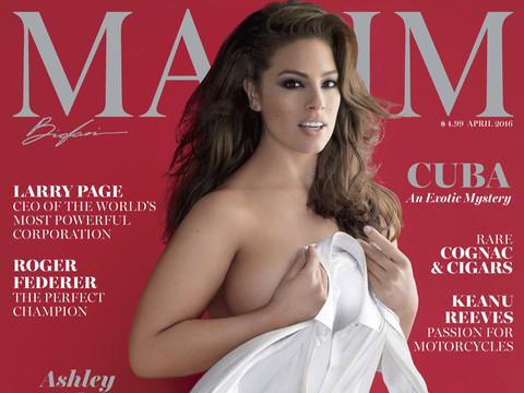 Ashley Graham Strips Down, Puts Kim Kardashian's Booty to Shame In New Issue of Maxim