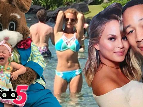 TooFab 5: Stars Celebrate Easter, Britney Flaunts Bikini Bod & More!