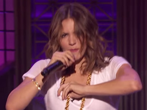 "Katharine McPhee Shows Us What She's Working With on ""Lip Sync Battle"""