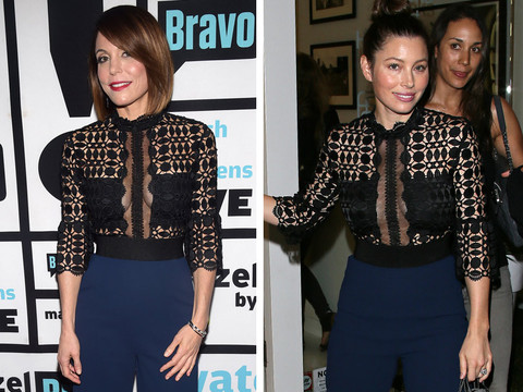 Dueling Designer Duds: Who Wore It Better Bethenny Frankel or Jessica Biel?!