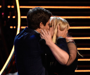 Rebel Wilson and Adam Devine Have Sloppy Makeout Session After Winning MTV's…
