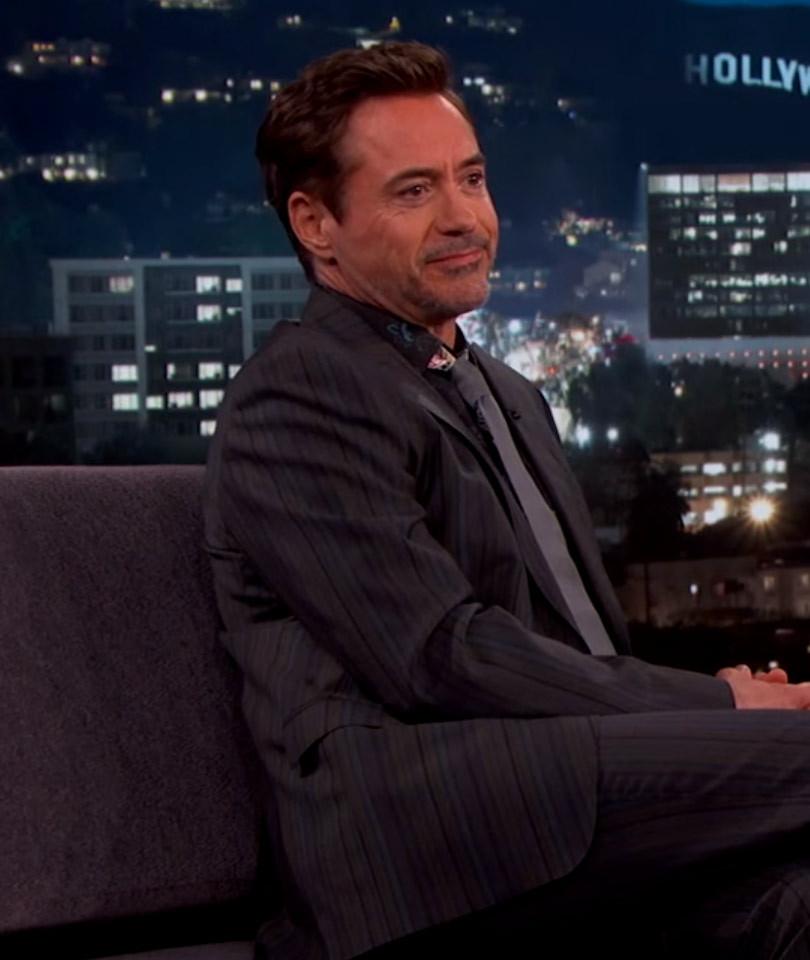 "Robert Downey Jr. Shares Adorable Shot of Daughter Avri on ""Jimmy Kimmel Live""…"