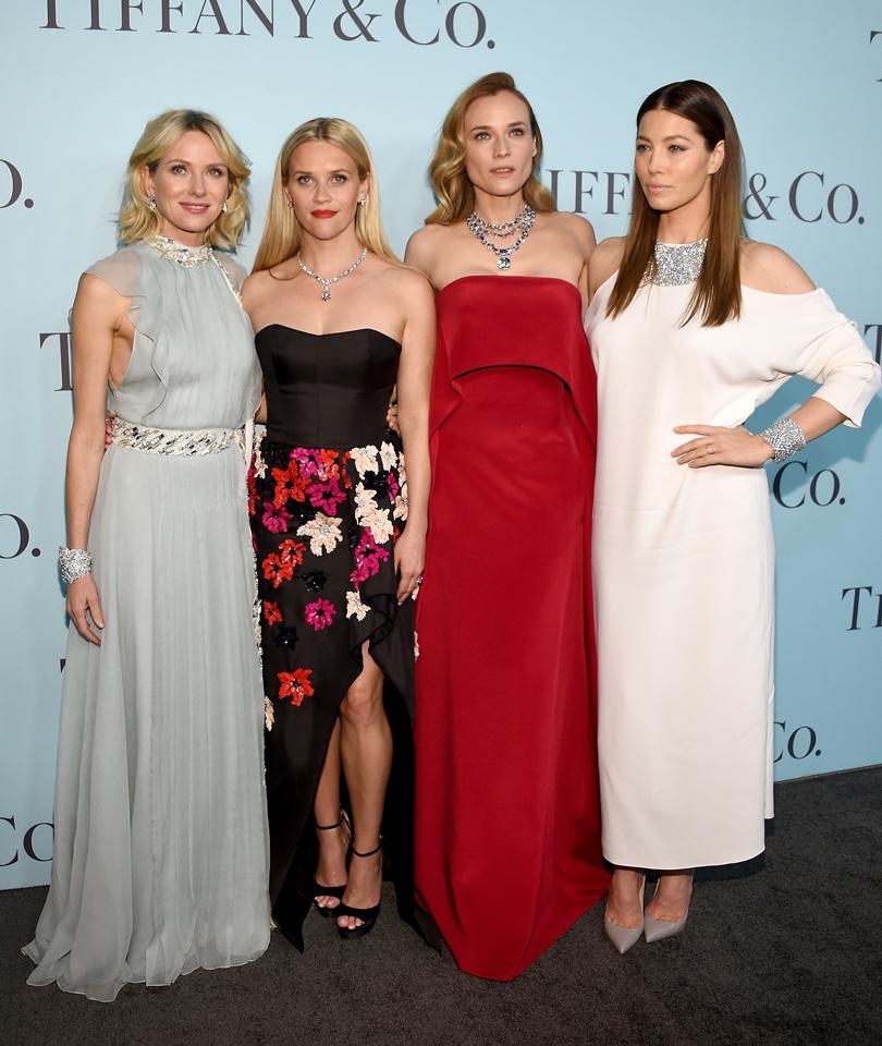 Naomi, Reese, Diane & Jessica Stun at Tiffany & Co's Gala in NYC