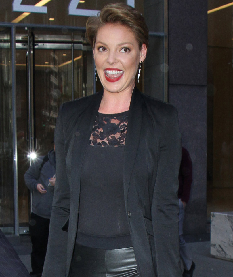 Katherine Heigl Debuts Dramatically Shorter, Darker 'Do -- Like the Look?