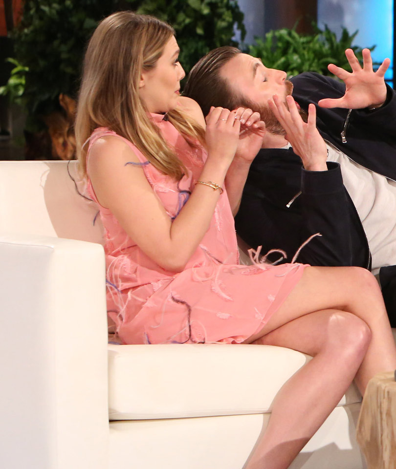 Chris Evans Scares the Hell Out of Elizabeth Olsen -- And Then Gets Spooked By…