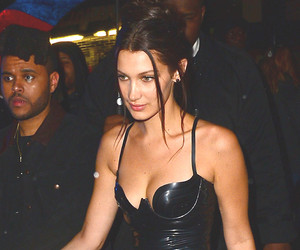 Bella Hadid Wears the Same Black Latex Dress as Kim Kardashian -- Who Wore It…