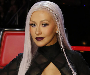Christina Aguilera Debuts Edgy Lavender 'Do With a Pierced Braid -- Like the…