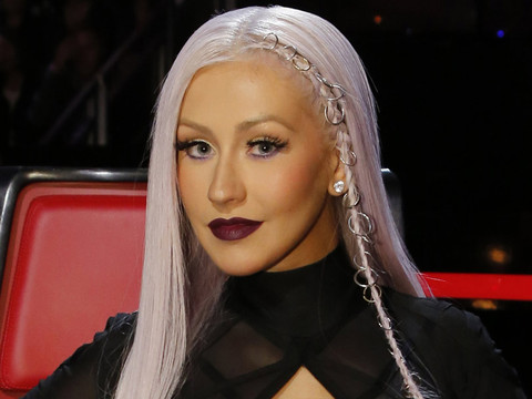Christina Aguilera Debuts Edgy Lavender 'Do With a Pierced Braid -- Like the Look?!