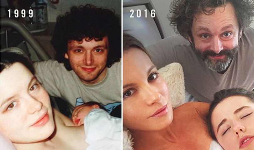 Not Awkward?! Kate Beckinsale Recreates Birth Photo With Ex Michael Sheen and Teenage Daughter Lily