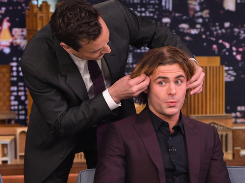 "Zac Efron Wigs Out and Has a Hilarious ""Water War"" With Jimmy Fallon"