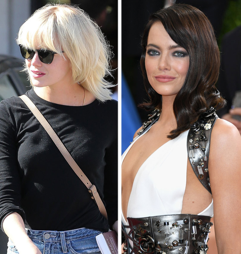 Emma Stone Debuts Shaggy New Platinum Blonde 'Do, Looks Just Like Taylor Swift!