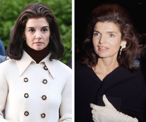 Katie Holmes Looks Strikingly Similar to Jackie Kennedy on Set of Upcoming…