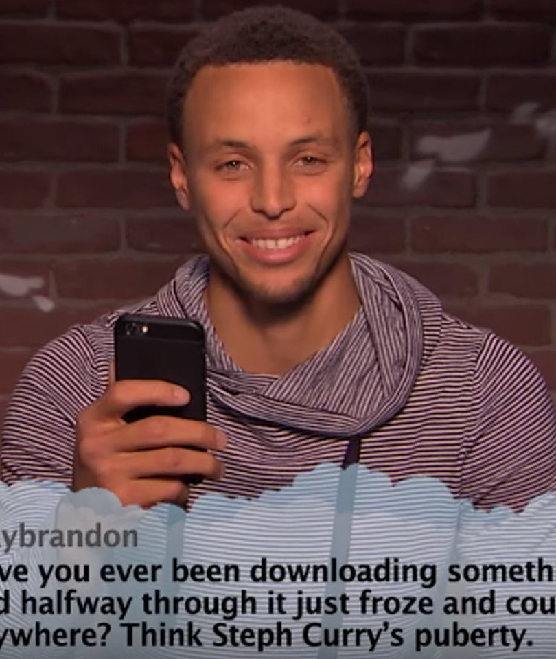 """Steph Curry, Blake Griffin, Shaquille O'Neal and More NBA Stars Read """"Mean…"""