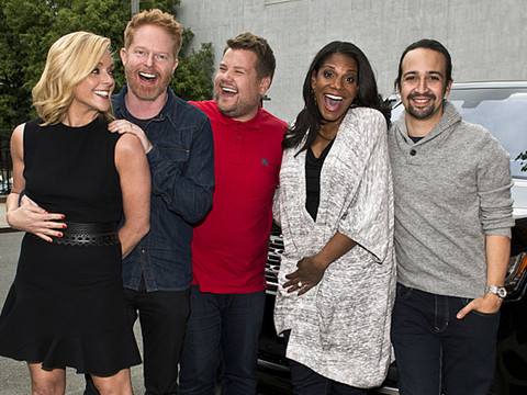 Lin-Manuel Miranda & More Broadway Stars Do Carpool Karaoke with James Corden