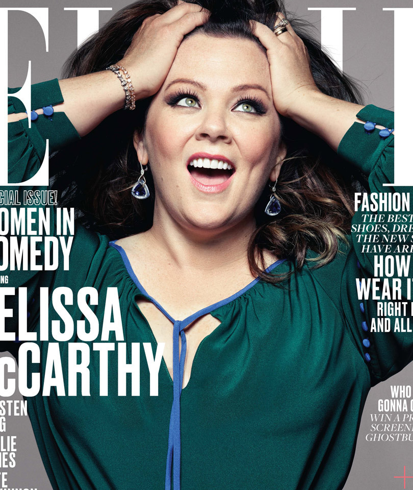 "Melissa McCarthy Stuns on Elle -- As ""Ghostbusters"" Stars Grace Women In Comedy…"