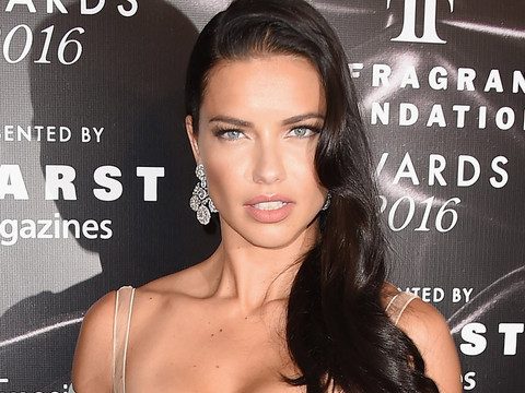 Adriana Lima Steals the Spotlight at Fragrance Foundation Awards -- See Her Red Carpet…