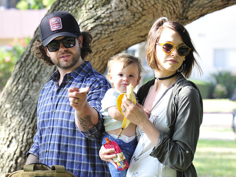Jack Osbourne Steps Out With His Cute Family -- Daughters Pearl & Andy Are SO Big!