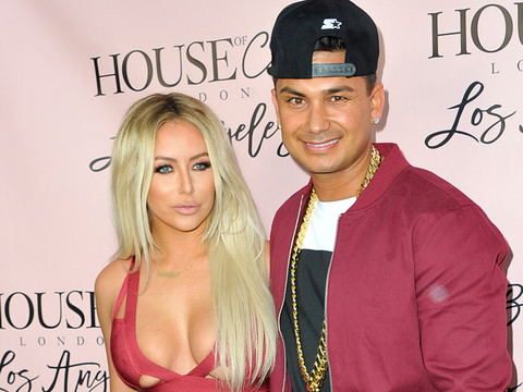 Aubrey O'Day and Pauly D are Picture Perfect on Red Carpet at the House Of CB Event