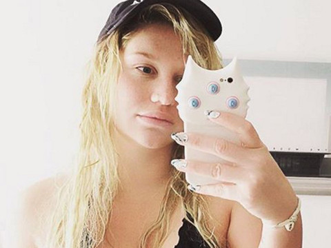 Kesha Goes Makeup-Free As She Nearly Pops Out of Too Small Bikini Top