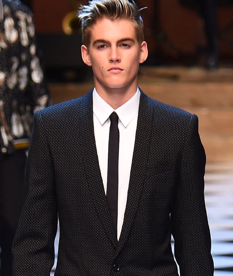 Cindy Crawford's Son Presley Gerber, 16, Rocks the Runway for Dolce &…