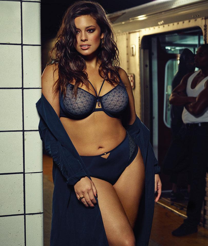 ashley graham shows off killer curves for provocative new lingerie line. Black Bedroom Furniture Sets. Home Design Ideas