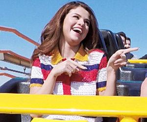 """Selena Gomez & James Corden Ride Roller Coaster on """"Carpool Karaoke"""" -- As…"""