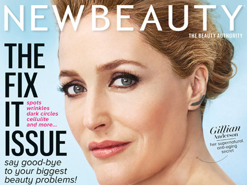 "Gillian Anderson Shares Beauty Secrets, Says ""Women Who Age Naturally Can Be Beautiful"""
