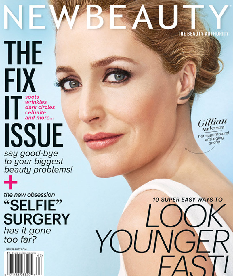 "Gillian Anderson Shares Beauty Secrets, Says ""Women Who Age Naturally Can Be…"