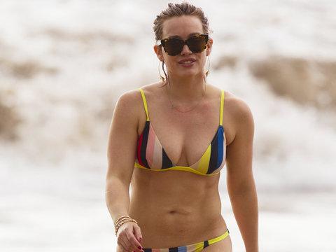"Hilary Duff Doesn't Care About Having a ""Perfect"" Bikini Bod"