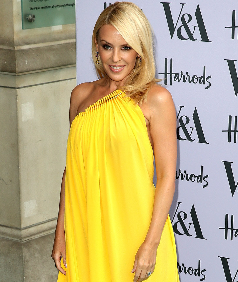 Kylie Minogue Sports Same Yellow Dress as Taylor Schilling -- Who Wore It…
