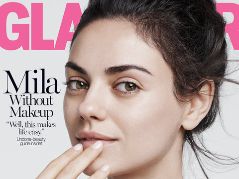 Hello Beautiful! Mila Kunis Goes Makeup-Free For Glamour