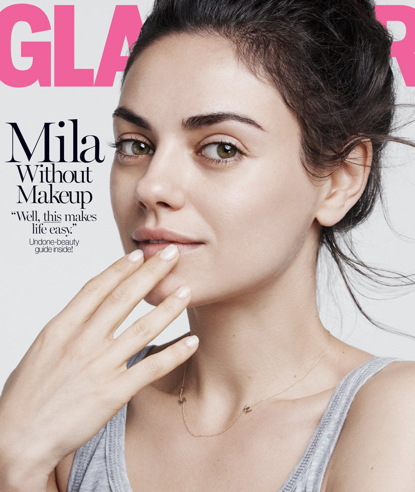 """Mila Kunis Goes Makeup-Free For Glamour, Says """"There's Nothing"""" She Doesn't Know About Ashton Kutcher"""