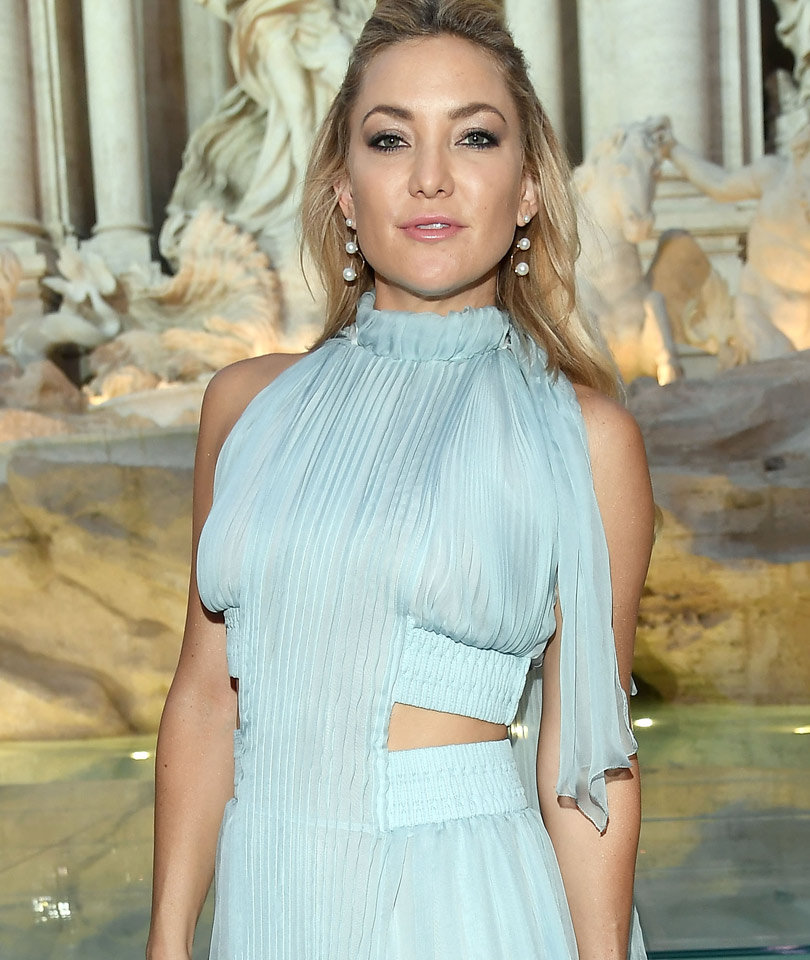 Kate Hudson Is Breathtaking In Blue In Front Row at Fendi Show