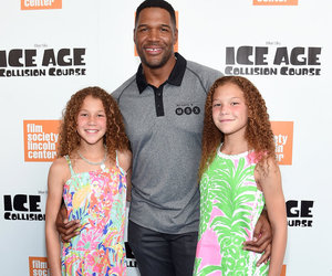 Michael Strahan Hits the Red Carpet With His Adorable Twin Daughters