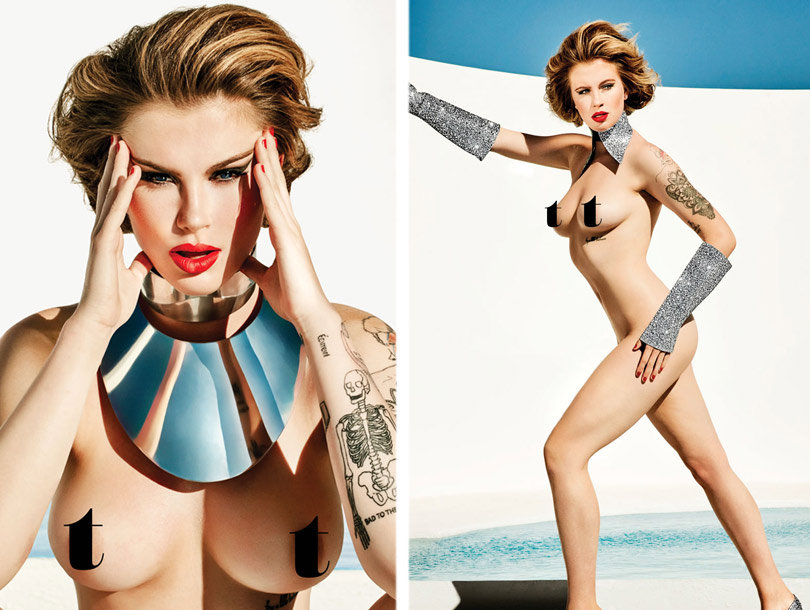 Ireland Baldwin Goes Completely Naked for Treats! Magazine