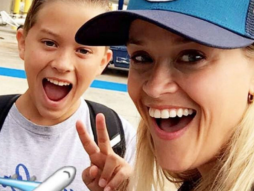 """Reese Witherspoon Goes on """"Wild"""" Adventure with Look-Alike Son Deacon"""